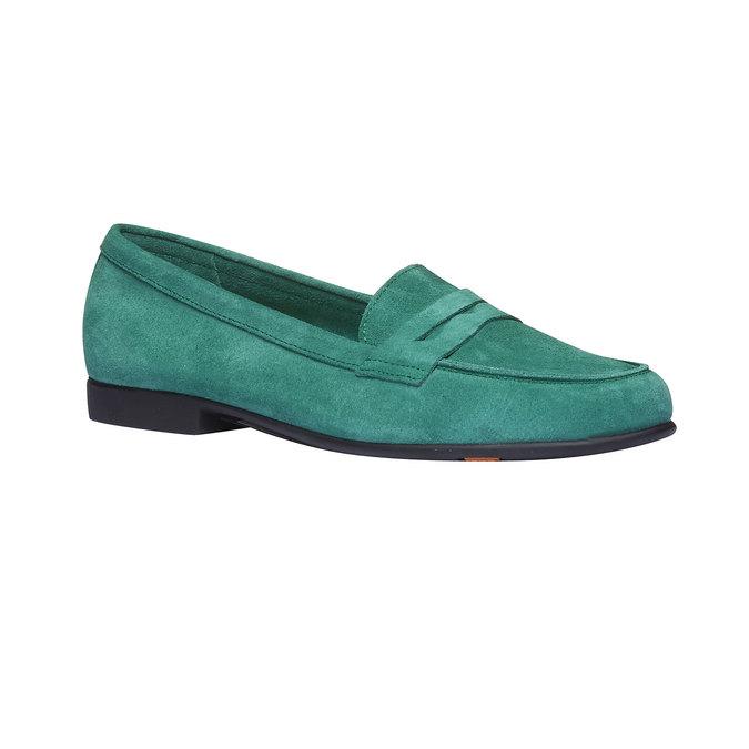 Penny Loafers en cuir flexible, Vert, 513-7196 - 13