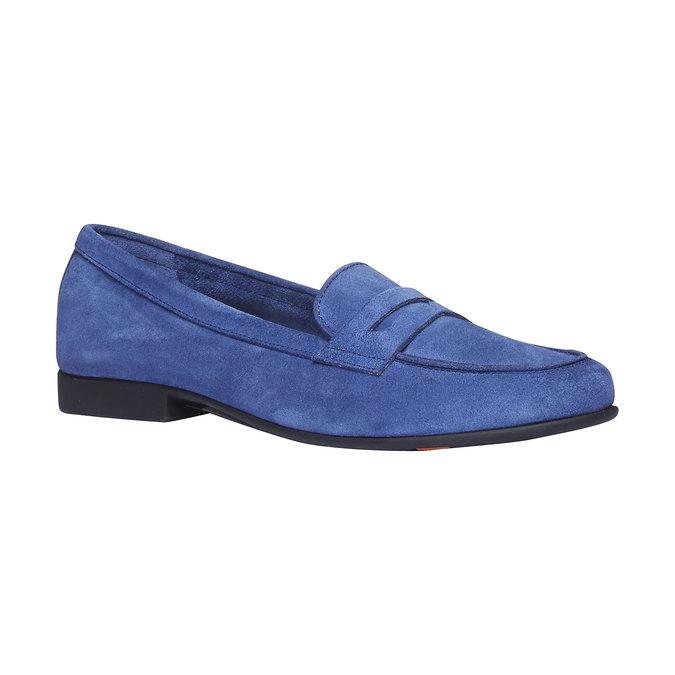 Penny Loafers en cuir flexible, Violet, 513-9196 - 13