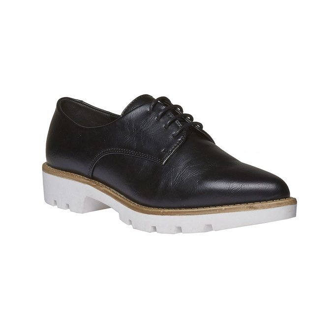 Chaussure basse à semelle épaisse bata, Noir, 521-6480 - 13