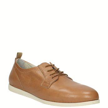 Chaussure lacée décontractée en cuir flexible, Brun, 524-3565 - 13