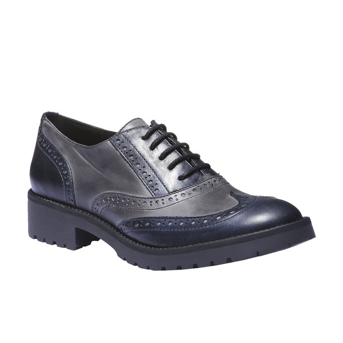 Chaussure lacée en cuir pour femme bata, Violet, 524-9135 - 13