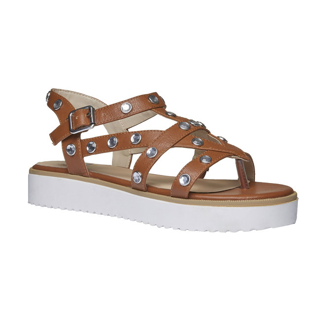 Sandale à lanières femme à semelle épaisse bata, Brun, 561-3225 - 13