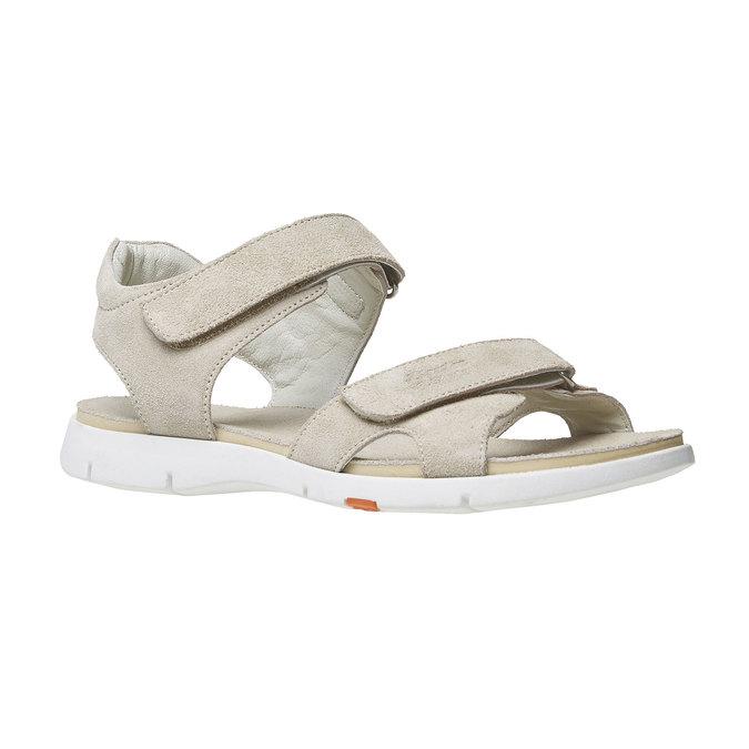 Sandale en cuir femme flexible, Jaune, 563-8397 - 13