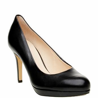 Escarpin en cuir noir hogl, Noir, 724-6013 - 13