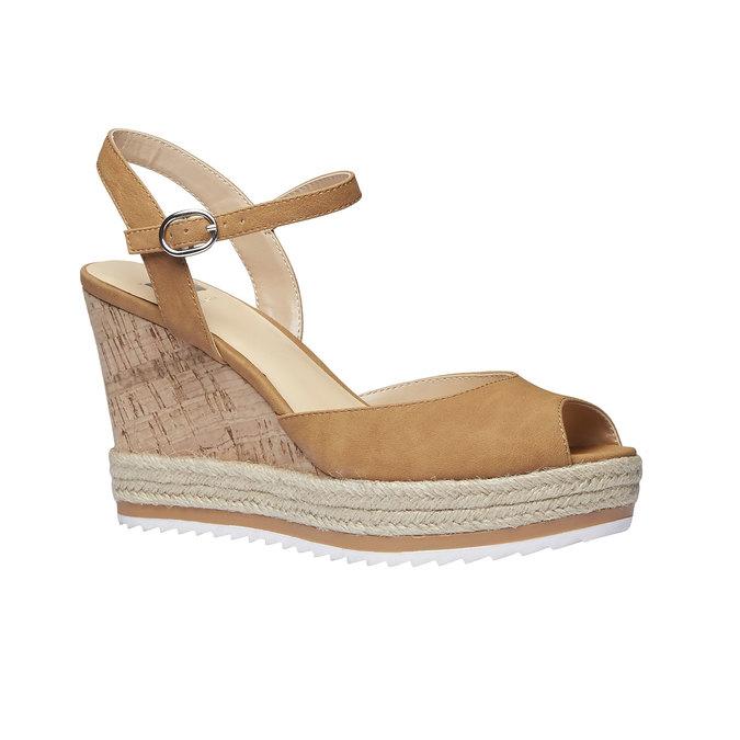 Chaussure à plateforme femme bata, Brun, 761-4520 - 13