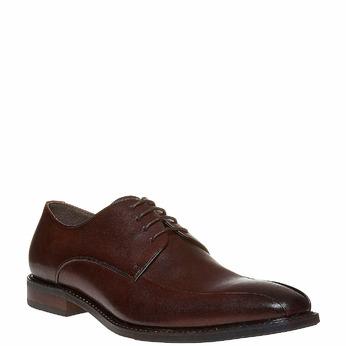 Chaussure lacée Derby en cuir bata, Brun, 824-4311 - 13