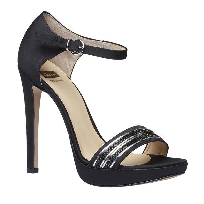 Sandale à talon Stiletto haut bata, Noir, 769-6555 - 13