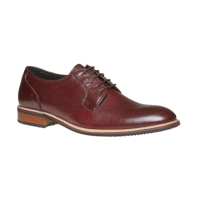 Chaussure lacée Derby en cuir bata, Rouge, 824-5280 - 13