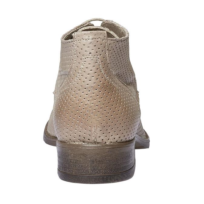 Bottine en cuir pour femme bata, Beige, 524-8468 - 17