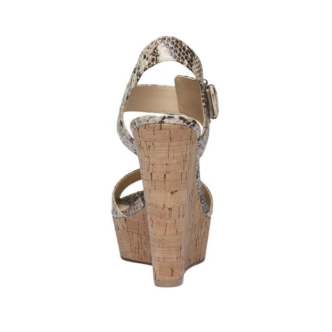 Sandale à plateforme pour femme bata, Jaune, 761-8533 - 17