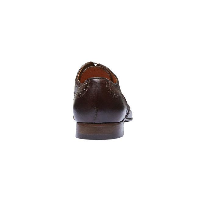 Chaussure lacée en cuir pour homme avec décoration shoemaker, Brun, 824-4145 - 17