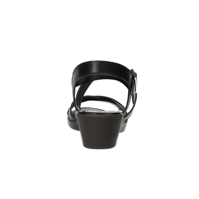 Sandale en cuir à talon compensé sundrops, Noir, 564-6400 - 17