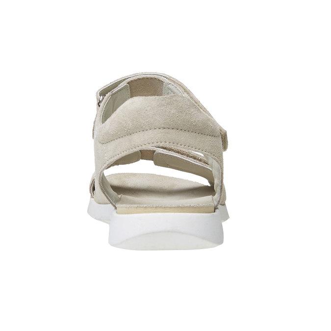 Sandale en cuir femme flexible, Jaune, 563-8397 - 17
