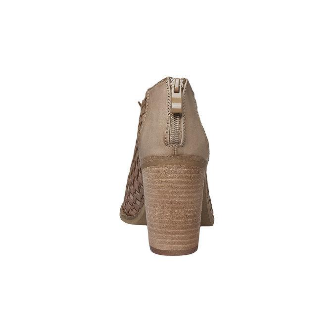 Sandale à bout ouvert bata, Brun, 721-3945 - 17
