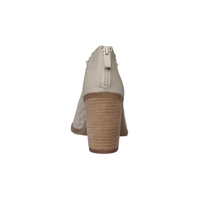 Sandale à bout ouvert bata, Jaune, 721-8945 - 17