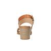 Sandale en cuir à talon large bata, Brun, 664-3205 - 17