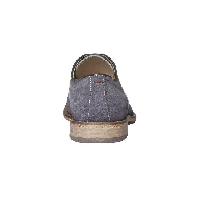 Chaussure lacée Oxford en cuir shoemaker, Gris, 823-2103 - 17