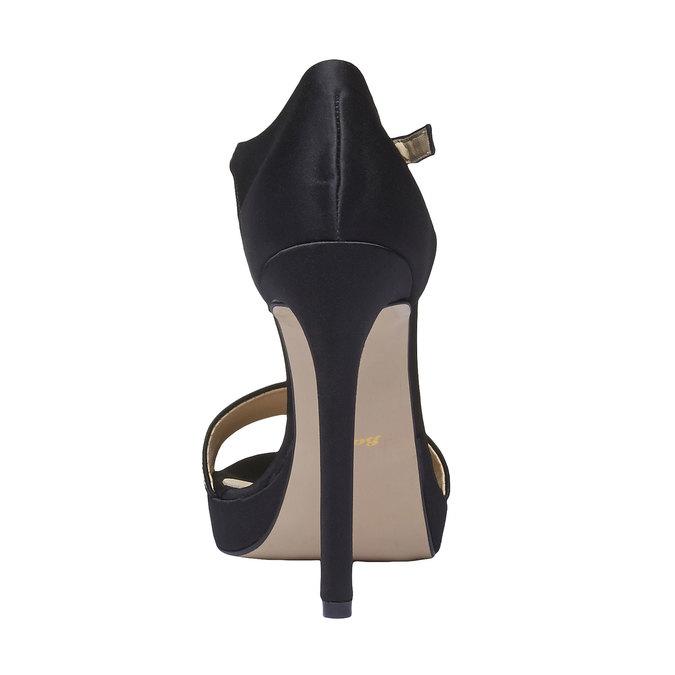 Sandale à talon Stiletto haut bata, Noir, 769-6555 - 17