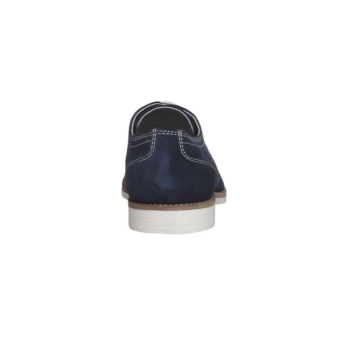 Chaussure lacée Derby en cuir bata, Violet, 823-9558 - 17