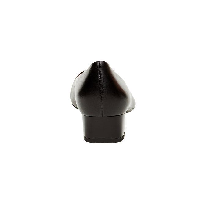 Escarpin noir en cuir à talon large hogl, Noir, 624-6272 - 17