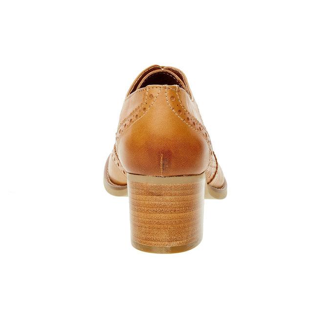 Chaussure à talon en cuir bata, Brun, 624-3386 - 17