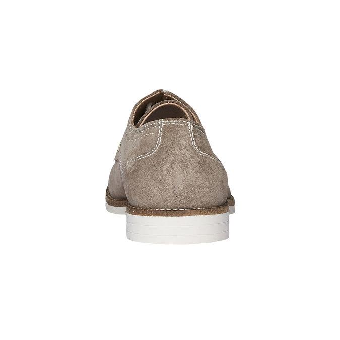 Chaussure lacée Derby en cuir bata, Jaune, 823-8558 - 17
