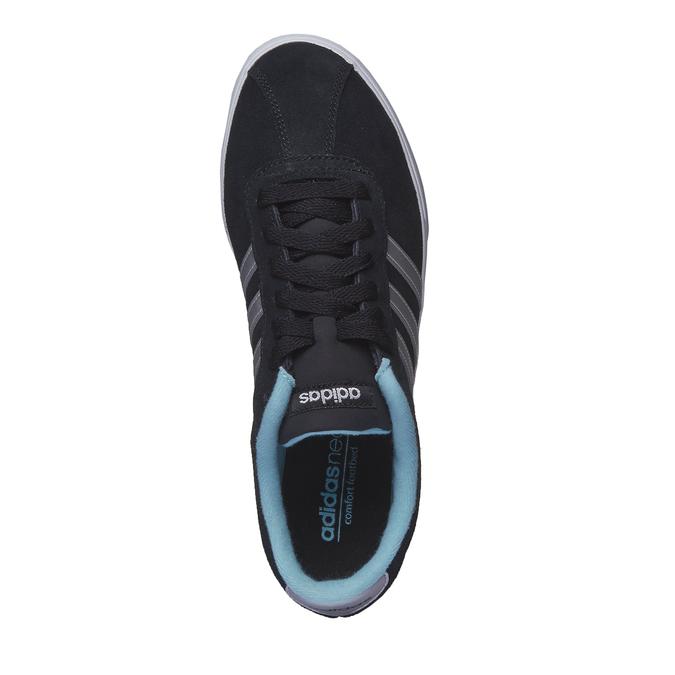 Tennis décontractée en daim adidas, Noir, 503-6685 - 19
