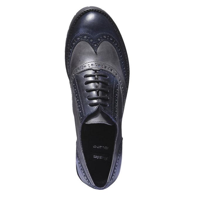 Chaussure lacée en cuir pour femme bata, Violet, 524-9135 - 19