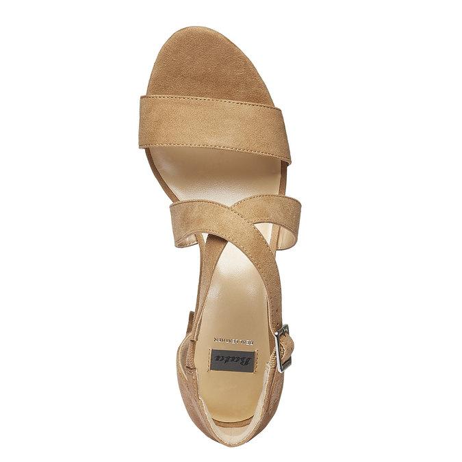 Sandale femme bata, Jaune, 769-8317 - 19