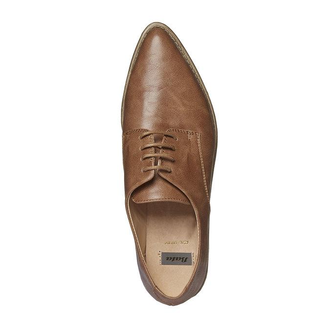 Chaussure basse à semelle épaisse bata, Brun, 521-3480 - 19