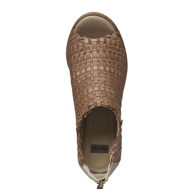 Sandale à bout ouvert bata, Brun, 721-3945 - 19