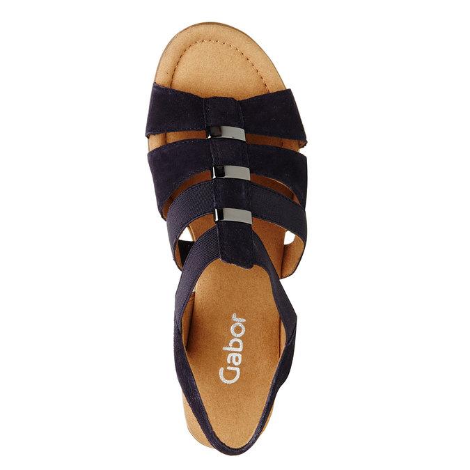 Sandale en cuir femme gabor, Violet, 666-9002 - 19