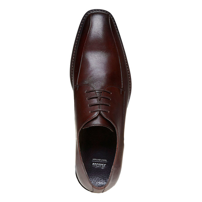 Chaussure lacée Derby en cuir bata, Brun, 824-4311 - 19