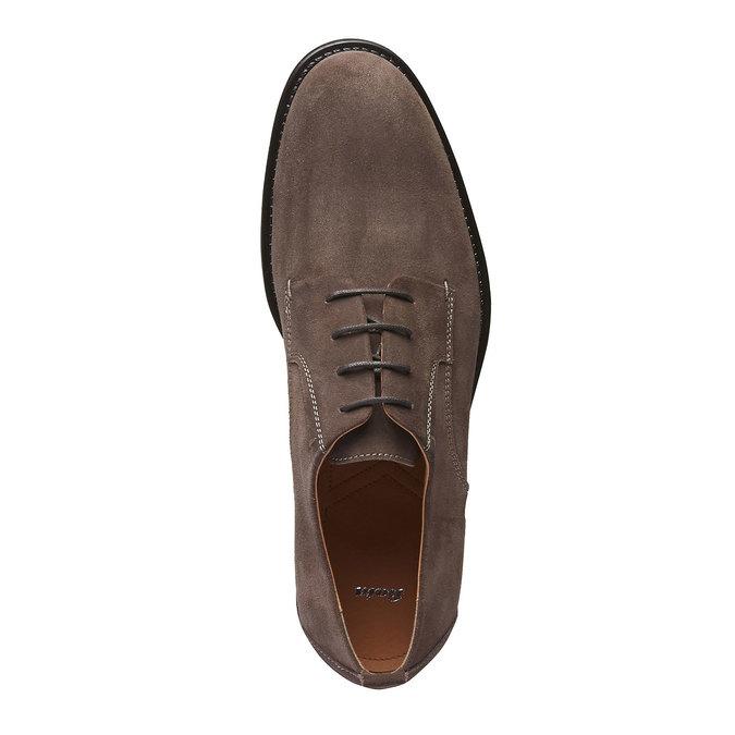 Chaussure lacée Derby en cuir bata, Brun, 823-4807 - 19