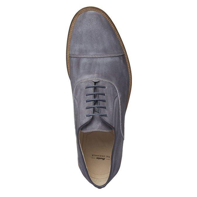Chaussure lacée Oxford en cuir shoemaker, Gris, 823-2103 - 19