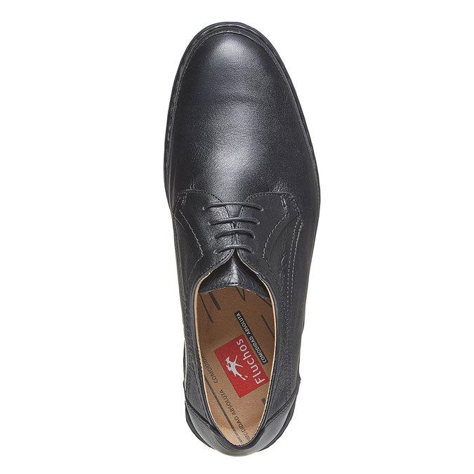 Chaussure lacée en cuir pour homme fluchos, Noir, 824-6866 - 19