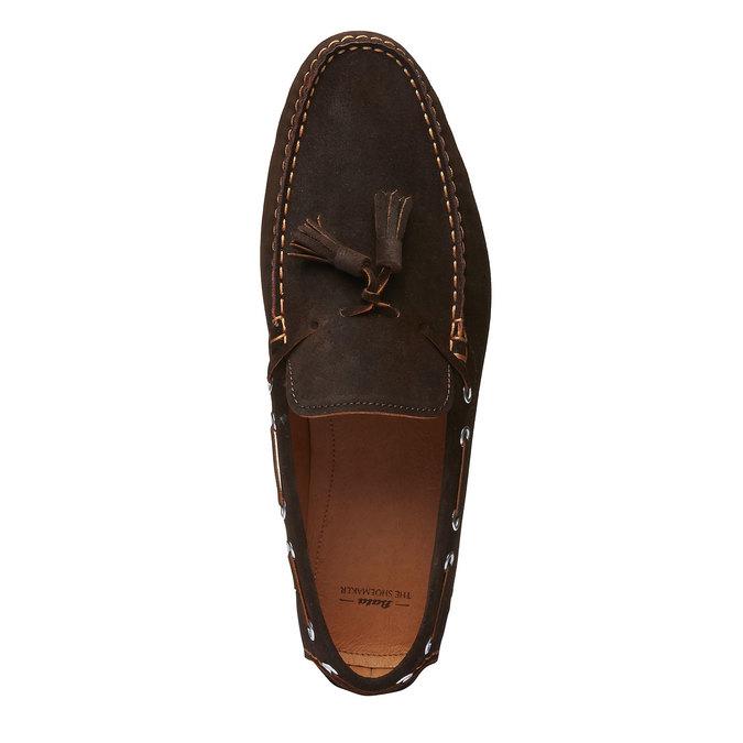 Mocassin à glands en cuir pour homme shoemaker, Brun, 853-4182 - 19
