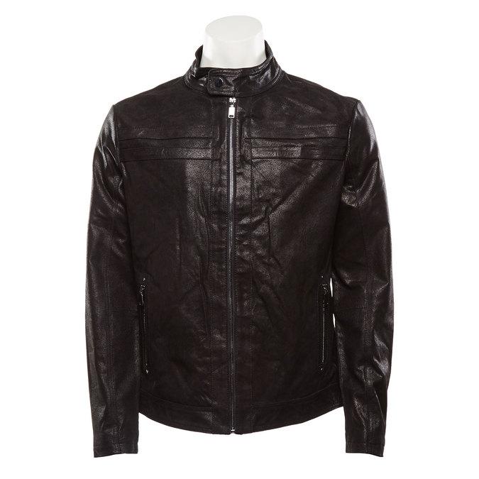 Veste en cuir pour homme bata, Noir, 973-6109 - 13