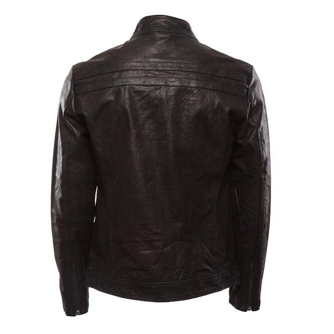 Veste en cuir pour homme bata, Noir, 973-6109 - 26