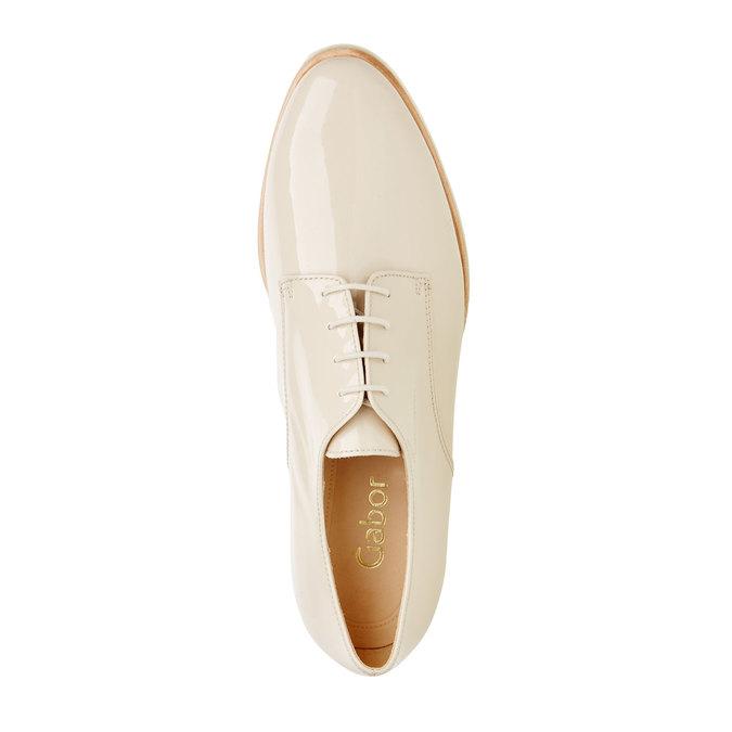 Chaussure lacée en cuir pour femme gabor, Jaune, 528-8001 - 19