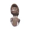 Sandales cuir à semelle épaisse bata, Gris, 764-2352 - 19