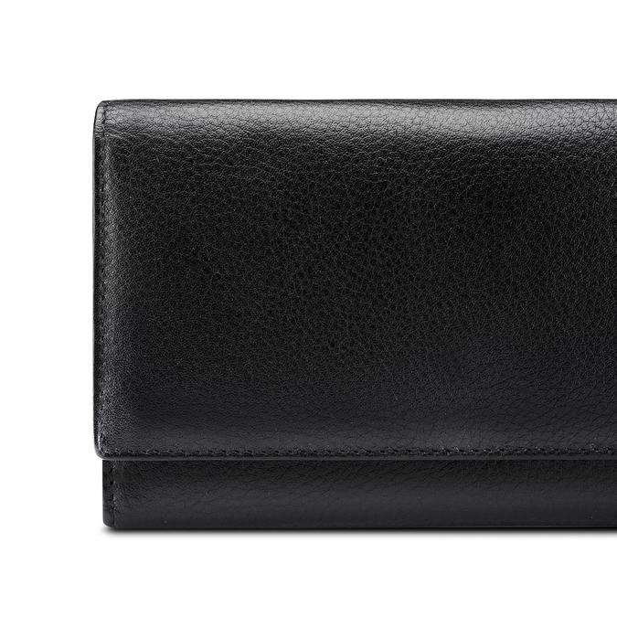 Porte-monnaie en cuir pour femme bata, Noir, 944-6133 - 17