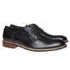 Chaussure lacée en cuir pour homme style Derby bata, Noir, 824-6280 - 26