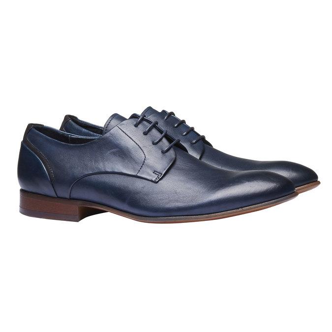 Chaussure lacée Derby en cuir bata, Violet, 824-9538 - 26