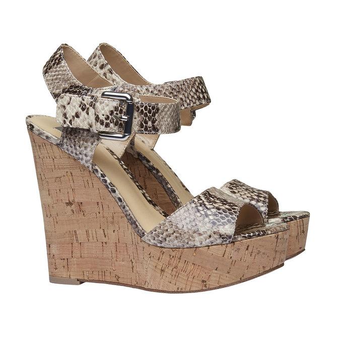 Sandale à plateforme pour femme bata, Jaune, 761-8533 - 26