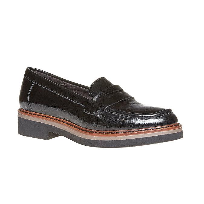 Loafers femme à semelle épaisse bata, Noir, 511-6239 - 13