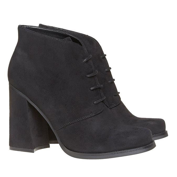 Chaussure femme à talon large bata, Noir, 799-6430 - 26