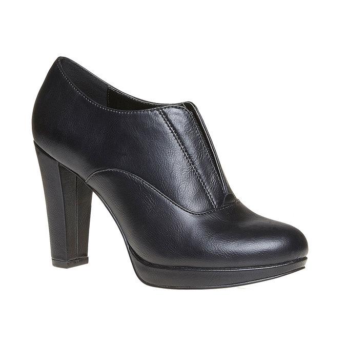 Chaussure lacée femme à talon haut bata, Noir, 721-6289 - 13
