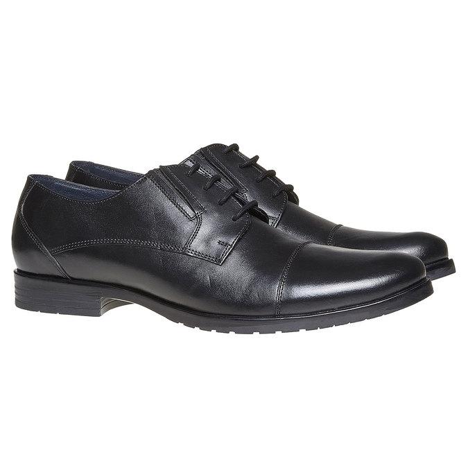 Chaussure en cuir homme bata, Noir, 824-6617 - 26