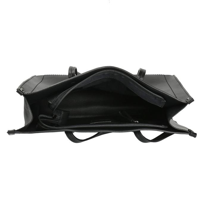 Sac à main anguleux style Shopper bata, Noir, 961-6736 - 15